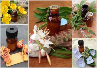 composition d'huiles essentielles de fleurs